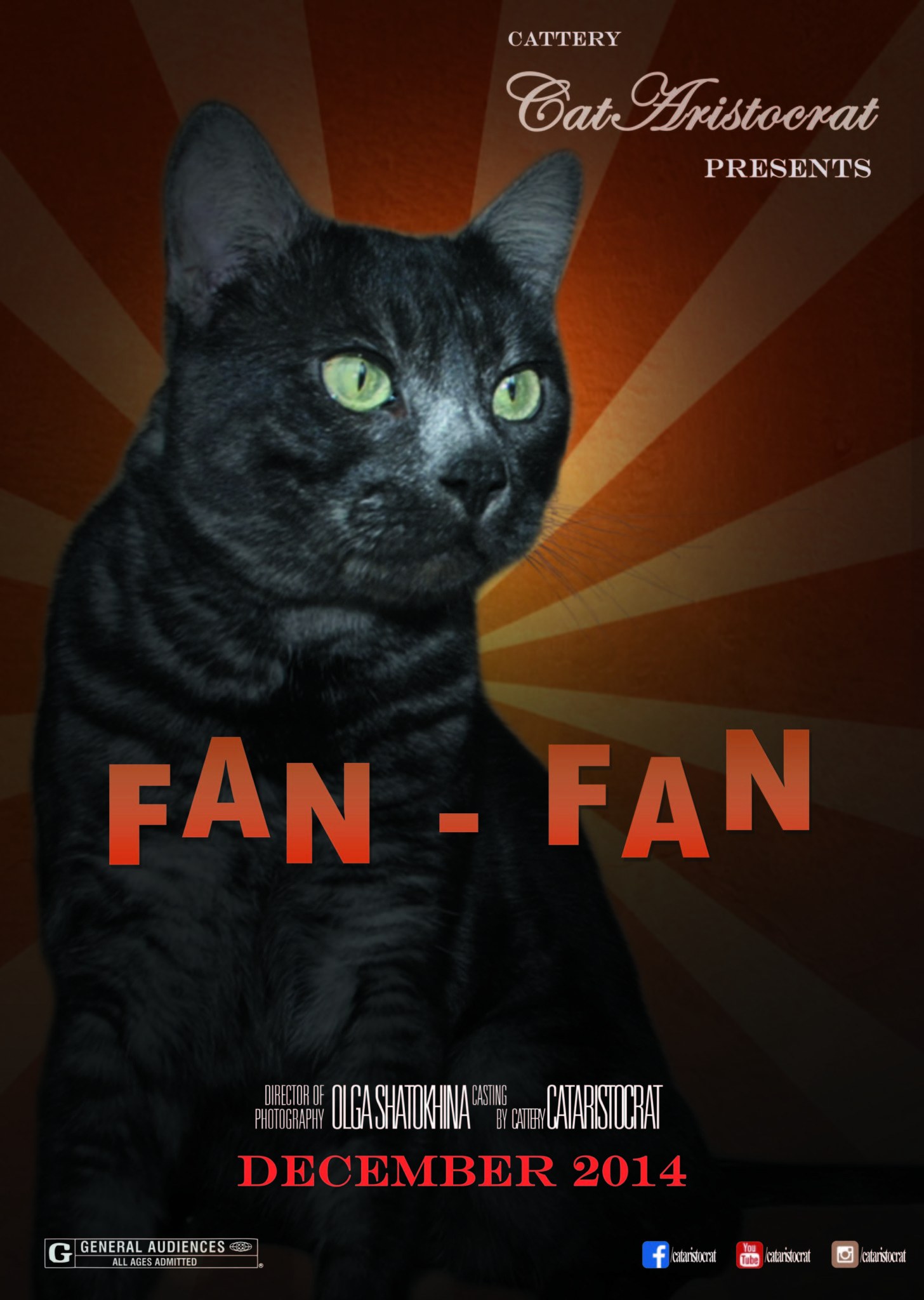 Bengal cat Fan-Fan movie Poster CATARISTOCRAT